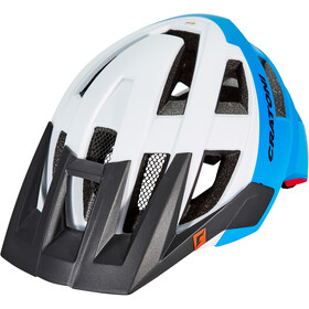 Cratoni Allset Kask rowerowy, white-blue-red matt